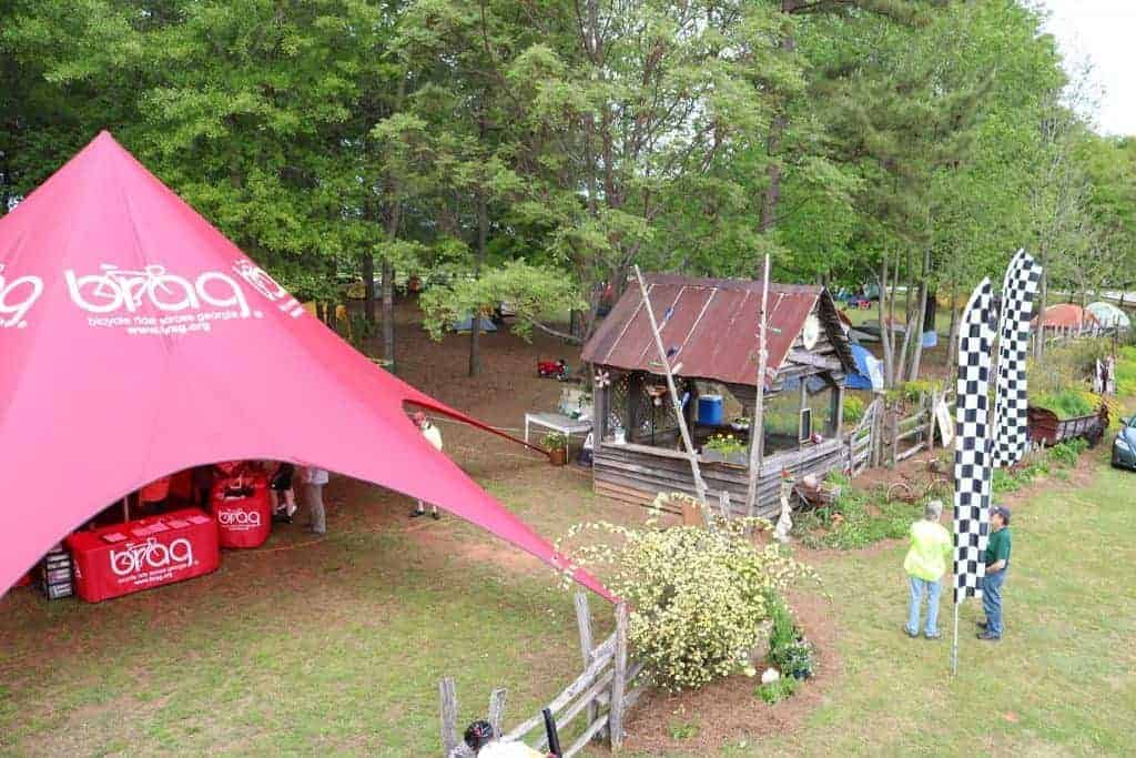 BRAG's Big Red Tent is an icon to Georgia cyclists. It serves as a traveling Headquarters and we bring it with us to RAGBRAI.